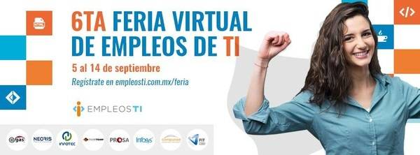 6ª Feria Virtual de Empleos especializada en tecnología en México y USA