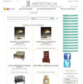 Los anticuarios españoles lanzan www.anticualia.com