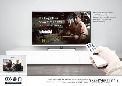 Un nuevo aliado de la publicidad en televisión: el botón de pausa
