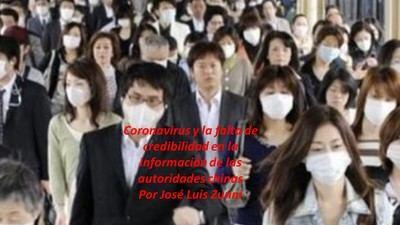 Coronavirus y la falta de credibilidad en la información de las autoridades chinas