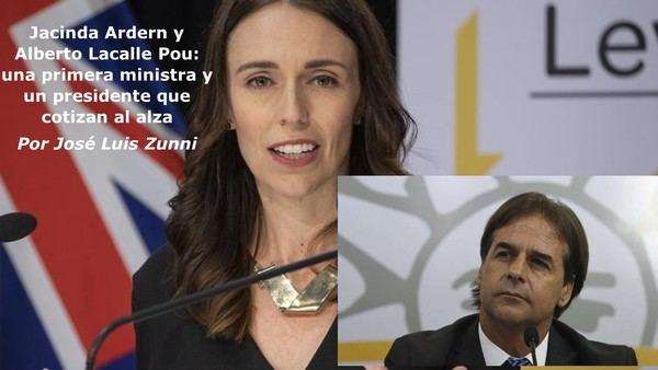Jacinda Ardern y Alberto Lacalle Pou: una primera ministra y un presidente que cotizan al alza
