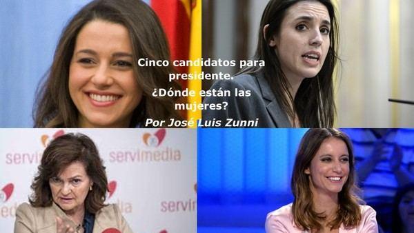 Cinco candidatos para presidente. ¿Dónde están las mujeres?