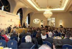 Juan Luis Cebrián durante su participación en los desayunos del Fórum Nueva Economía.