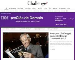 Renault adquiere el 40% del grupo Challenges