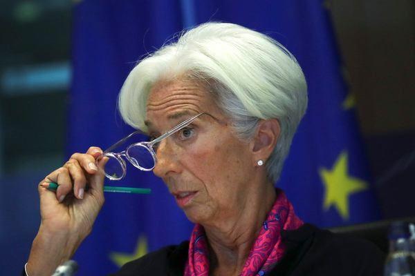 Christine Lagarde, presidenta del BCE explicando las acciones que va a tomar el Banco Central Europeo