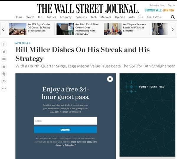 """""""The Wall Street Journal"""" entreabre su muro de pago"""