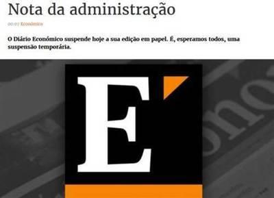 El portugués Diário Económico cierra su edición en papel