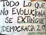 Una de las pancartas expuestas en Puerta del Sol