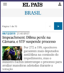 """""""El País"""" ya es el noveno diario digital de Brasil"""