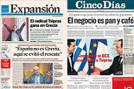 """Los diarios económicos """"Expansión"""" y """"Cinco Días"""" mejoran su difusión en enero"""