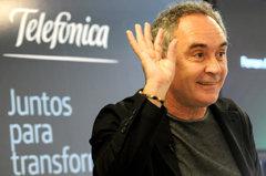 Ferran Adrià, embajador de Telefónica, en Buenos Aires