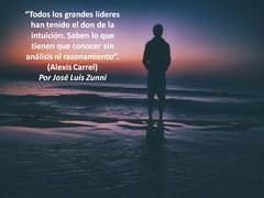 """""""Todos los grandes líderes han tenido el don de la intuición. Saben lo que tienen que conocer sin análisis ni razonamiento"""". (Alexis Carrel)"""
