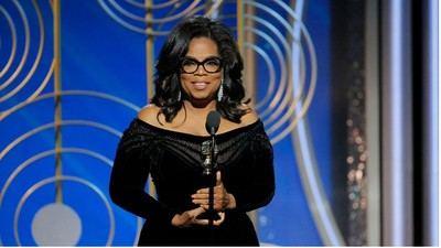 """""""Las historias que contamos y que este año nosotras nos convertimos en la historia…que sepan estos hombres poderosos que su tiempo se acabó"""" (Oprah Winfrey)"""