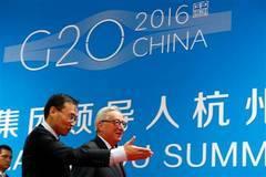 El presidente de la Comisión, Jean-Claude Juncker, a su llegada a la cumbre del G20 en Hangzhou (China)