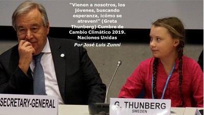 """""""Vienen a nosotros, los jóvenes, buscando esperanza, ¡cómo se atreven!"""" (Greta Thunberg)"""