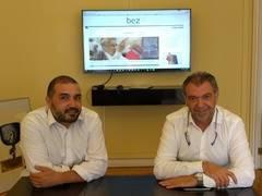 Juan Zafra (izquierda) y Braulio Calleja, directores de Bez.es
