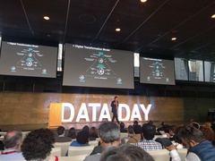 Nacho de Pinedo durante su intervención en DataDay 2018.
