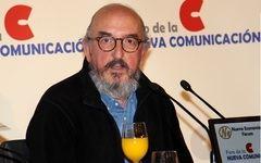 Jaume Roures durante el desayuno en el Foro de la Nueva Comunicación. / Imagen: FNC