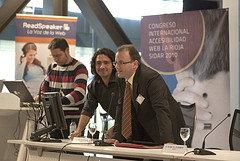 Loic Martínez durante una conferencia del grupo de trabajo SIDAR. (Foto: UPM)