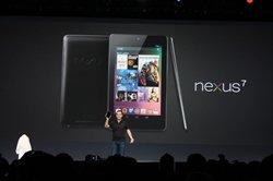 La tableta Nexus 7 durante la presentación oficial (Foto: Google)