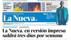 """El diario argentino """"La Nueva"""" reduce su impresión a tres días"""