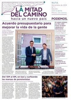 Portada del primer número del 'periódico' de Podemos.