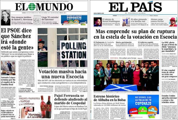 Los dos diarios líderes de España se están hundiendo