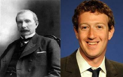 John D. Rockefeller y Mark Zuckerberg