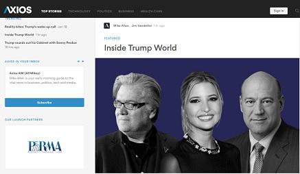 Axios: un nuevo medio inspirado en Twitter