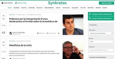 Synkratos, el periódico digital elaborado por los usuarios