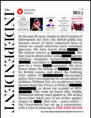 El Gobierno británico quiere acabar con la Ley de Libertad de Información