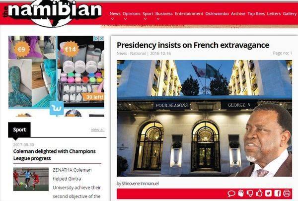 Namibia, por encima de España y Francia en libertad de prensa