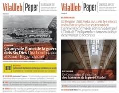 Un digital catalán edita una versión para imprimir desde casa