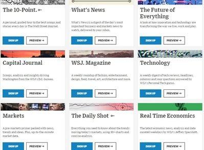 Así ha mejorado 'The Wall Street Journal' sus newsletters en menos de un año