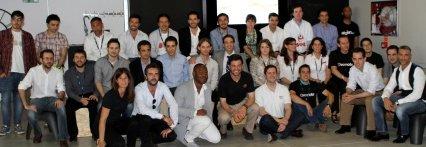 Emprendedores y equipo Wayra de Madrid