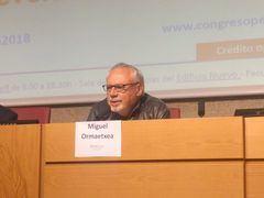 Miguel Ormaetxea, editor de media-tics.com, durante su ponencia en el Congreso de ProCom 2018. / M.A. Ossorio