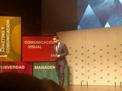 Raúl Berdonés, presidente del grupo Secuoya, durante su ponencia en la presentación del Anuario de la Comunicación 2018, de Dircom. / Foto: M.Á. Ossorio (media-tics).