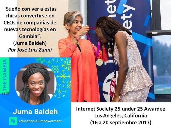 'Sueño con ver a estas chicas convertirse en CEOs de compañías de nuevas tecnologías en Gambia'. (Juma Baldeh)