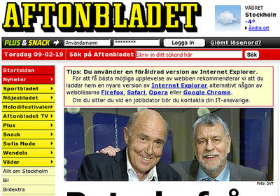 Un caso de éxito digital: el diario sueco 'Aftonbladet'