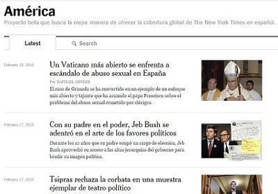 """""""The New York Times"""" apuesta por los contenidos en español"""