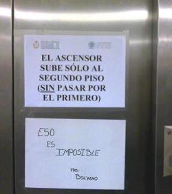 EL ASCENSOR SUBE SOLO AL SEGUNDO PISO (SIN PASAR POR EL PRIMERO)