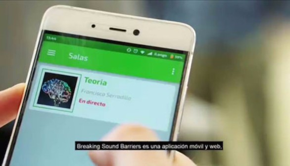 Telefónica presenta Breaking Sound Barriers, una app para integración social de personas con discapacidad auditiva