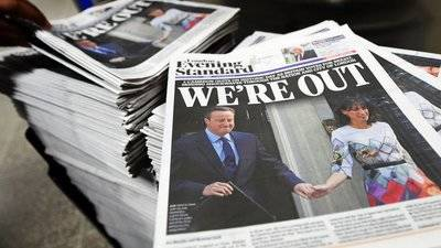 Incertidumbre en la prensa británica tras el Brexit