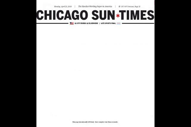 'The Chicago Sun-Times', vendido por un dólar