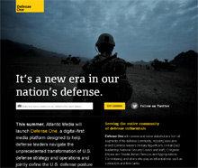Defense One, el nuevo portal de nicho del plan digital de Atlantic Media