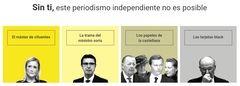 Algunas exclusivas publicadas por 'eldiario.es' y utilizadas como reclamo publicitario para ganar suscriptores.