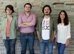 De izquierda a derecha, Luis Mauro Martínez, Diego Guadarrama, Javier González y Ana Quijano, equipo fundador de LivePost.