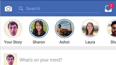 Las 'historias' llegan a Facebook