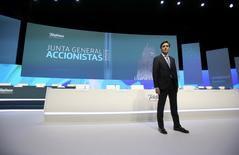 José María Álvarez-Pallete, presidente de Telefónica, durante la reciente Junta de Accionistas de la telco española.