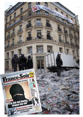Hundimiento de la prensa tradicional francesa